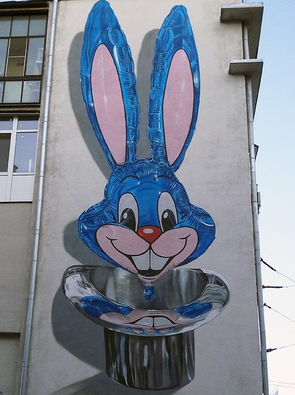 3D мурал Кролик